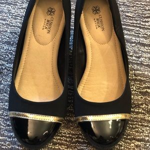 AVON-cushion walk cap toe heels